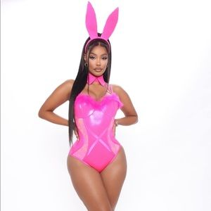NWT FashionNova Law School Bunny Costume- Pink